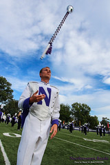 Drum Major Will Ritter (WCAS14) ::  	   The Northwestern University 'Wildcat' Marching Band rehearses outside Ryan Field just before Northwestern Wildcat Football competes against Western Michigan University on September 14, 2013.  Photo by Daniel M. Reck (GSESP08).