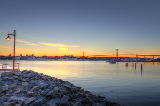 Movember Sunset, Halifax Harbour, Nova Scotia - HDR