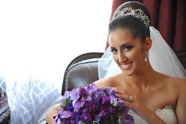 Alina- crystal crown- bridal veil- Bridal Styles Boutique