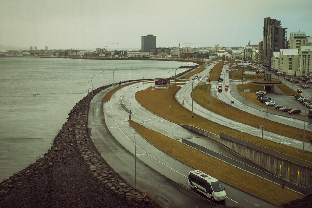 Vue sur la côte de Reykjavík
