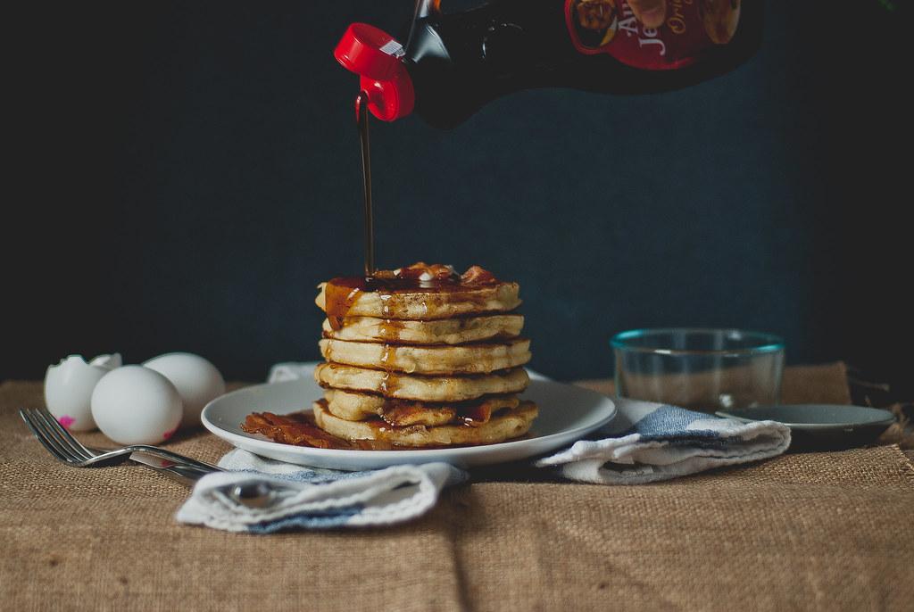 """Bacon """"Buttermilk"""" Pancakes"""