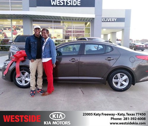 Thank you to Patricia Mcdade on your new 2014 #Kia #Optima from William Hadnott and everyone at Westside Kia! #NewCarSmell by Westside KIA