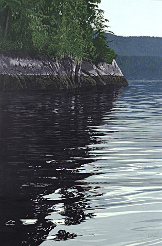 canada painting landscape 2000 bc britishcolumbia waterscape scottcove