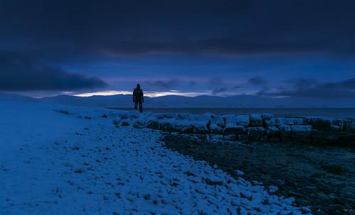 winter norway december finnmark polarnight mortensnes varangerfjorden