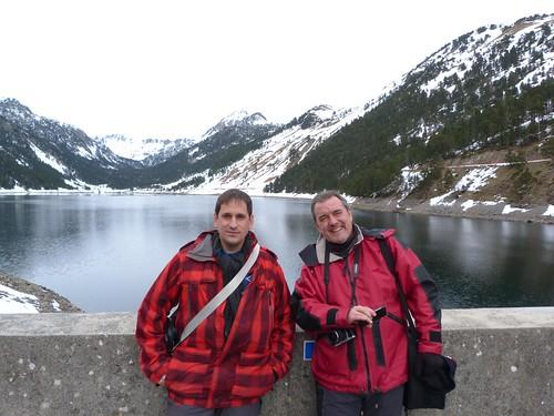 Carlos Olmo y yo en el Lac de l´Oule (Francia)