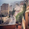 Monte-Carlo in the misting rain.