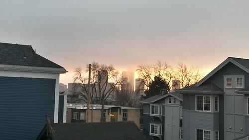 Weird foggy sunset by christopher575