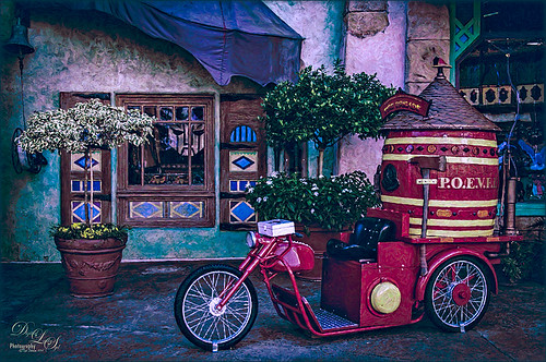 Image of a Fire Brigade Bicycle at Universal Studios