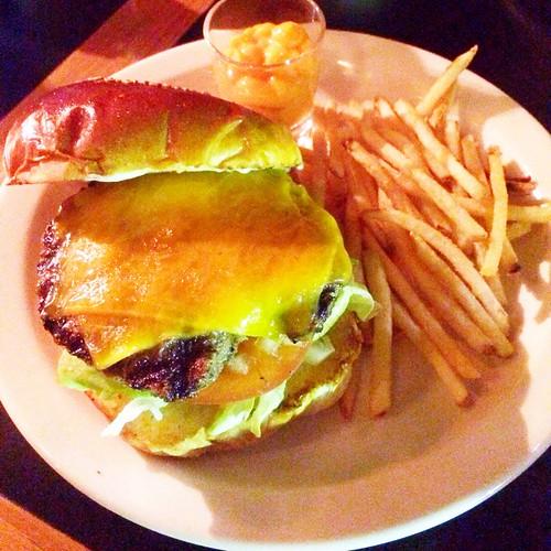サンフランシスコピークスのハンバーガー