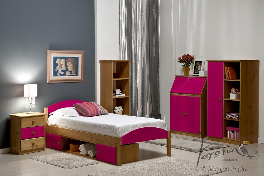 Maximus Bed Frame Antique & Fuchsia - BDFRMAXN3000ANK RS3