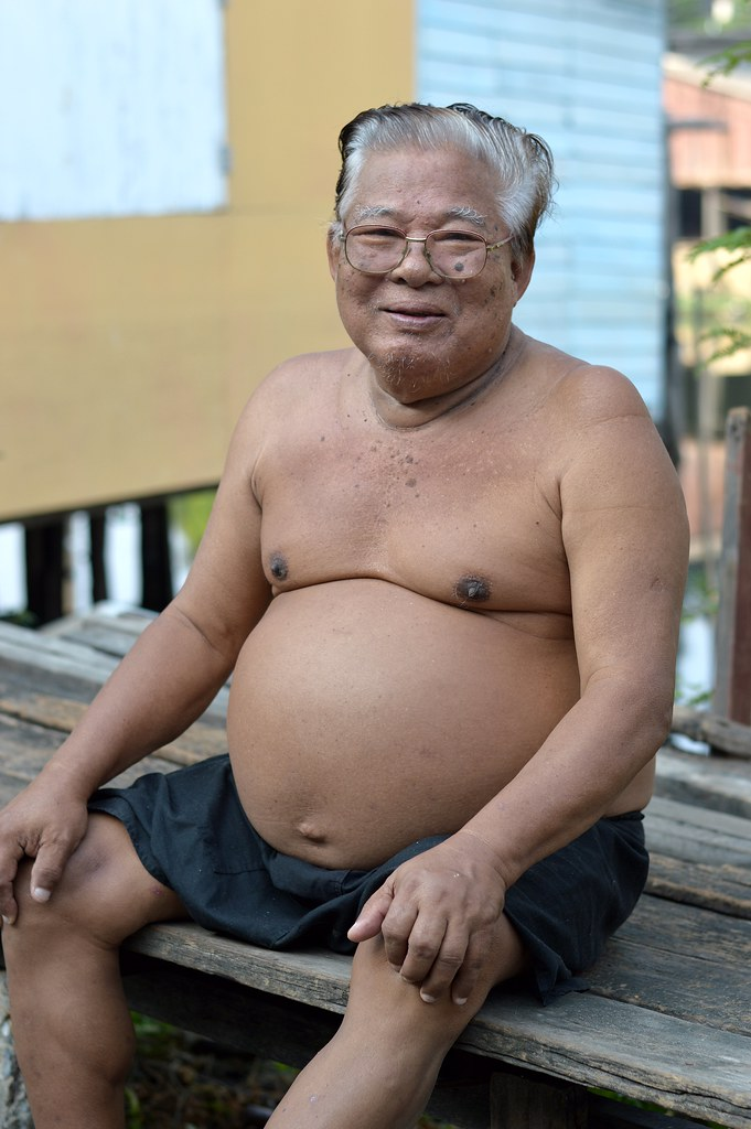 Old fat asian