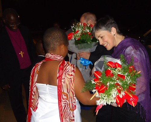 Caroline Welby receives a warm welcome in Burundi