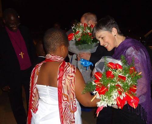 Caroline Welby receives a warm welcome in Burundi