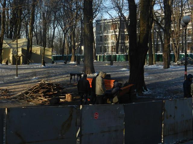 Мариинский парк. Автомайдан
