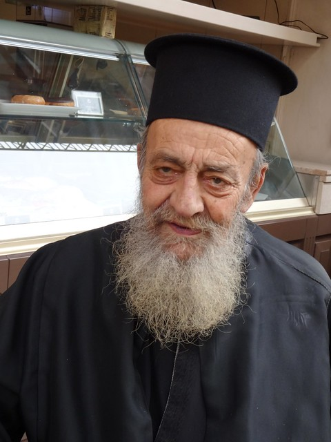 Orthodox priest with zoom