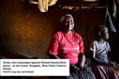 Susan, who campaigns against female genital mutilation.