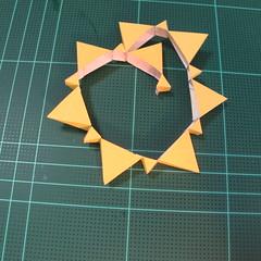 วิธีทำของเล่นโมเดลกระดาษรูปพระอาทิตย์ยิ้ม (Smiling Sun Paper Craft Model) 004