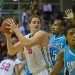 2014-02-51 -- Men's basketball vs. Elmhurst. Annual Pink Zone game.