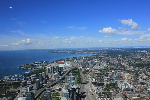 Picture looking down from CN Tower