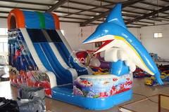 Dolphin jumping inflatable water slide-04