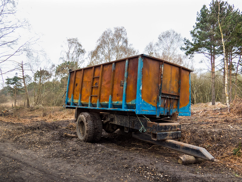 Trailer on Upton Heath
