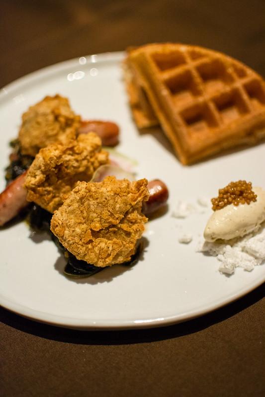Rabbit & Waffles at Sidney Street Cafe
