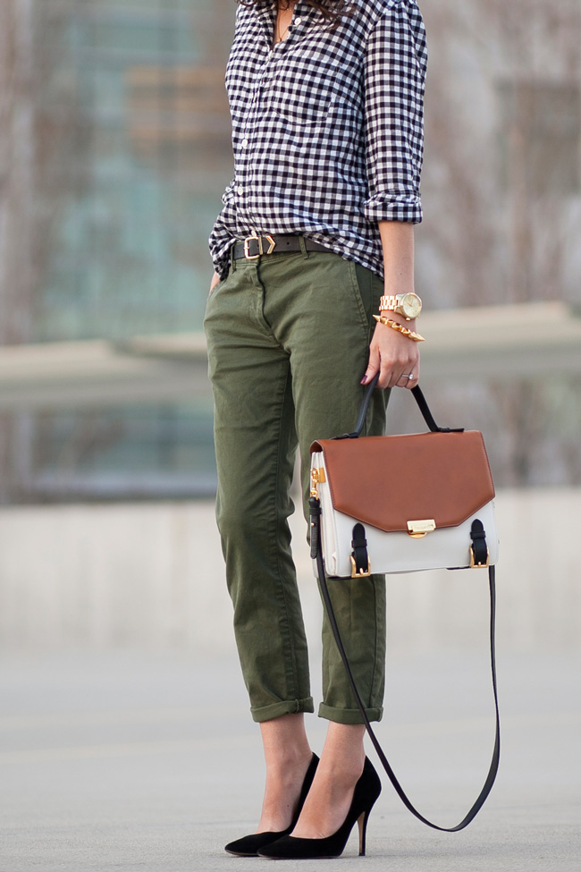 black-gingham-shirt-olive-khakis-3