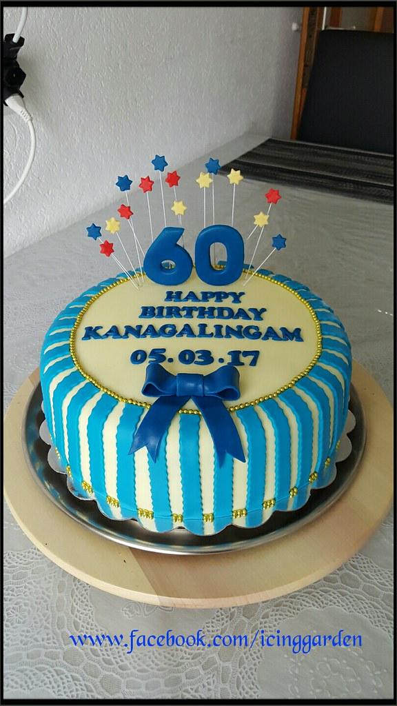 Birthday Cake 60 The Icing Fondant