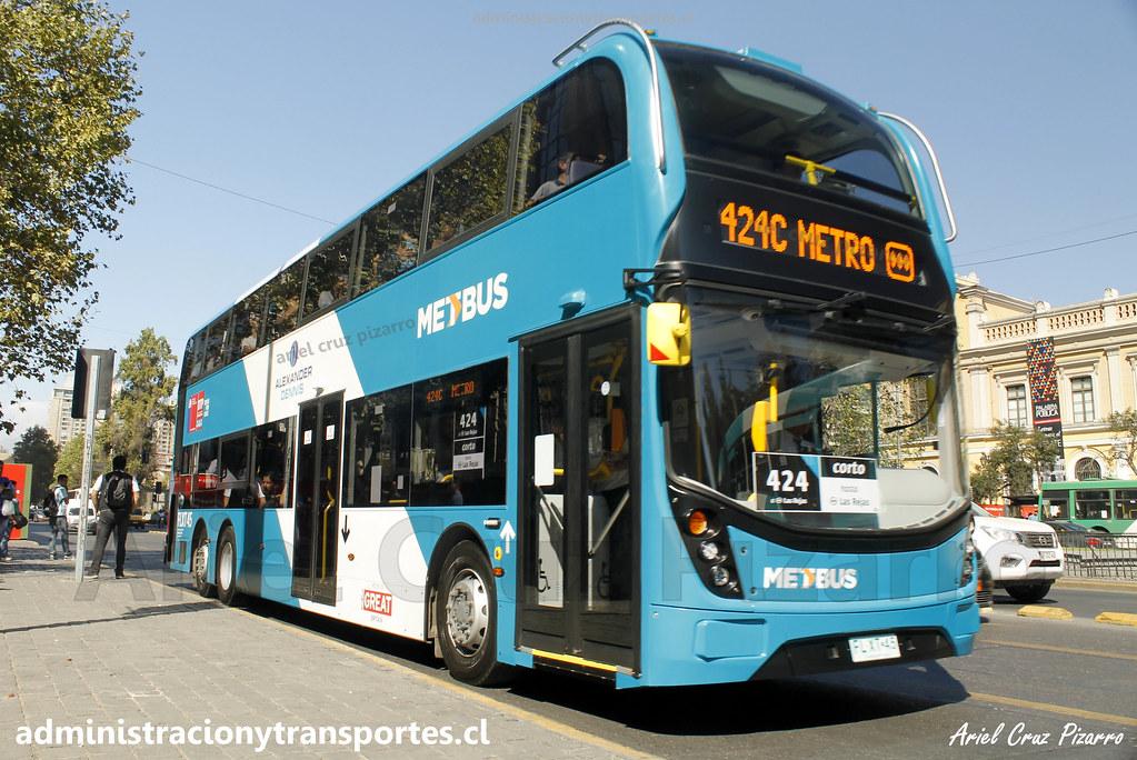 Transantiago 424c | Metbus | ADL Enviro 500 / FLXT45 (Bus 2 Pisos Transantiago)