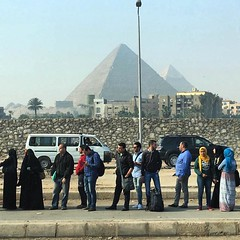 Some bus stops are better than others #Giza #pyramids
