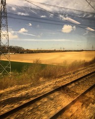 The French landscape at high speed #eurostar #train #landscape