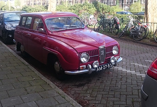 Old cars in the city, Amsterdam