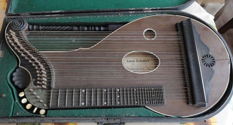 Musical Instruments (pre-1930) Brass Alte Konzert-zither Von Conrad Eschenbach Markneukirchen