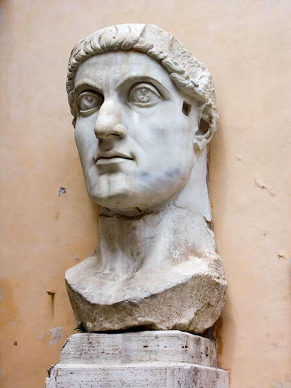 Marble statue of Emperor Constantine the Great, at the Capitoline Museums
