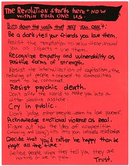 """gothhabiba: theparisreview: """"This flyer, a pre–Riot Grrrl 'manifesto' that was later repurposed for the minizine Riot Grrrl, is the first image in the book. Kathleen told me she made it in 1989, when she was volunteering at Safeplace, Olympia's long-lived"""