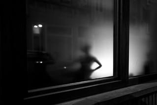 waiting behind the window