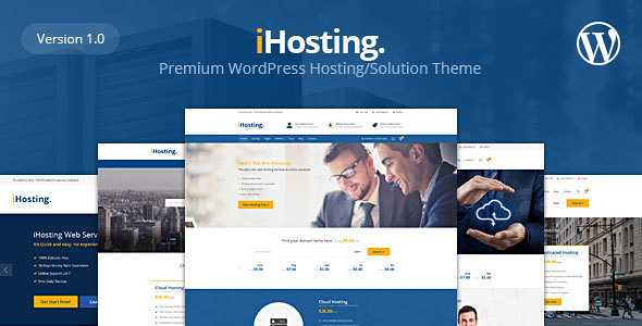 iHosting WordPress Theme free download
