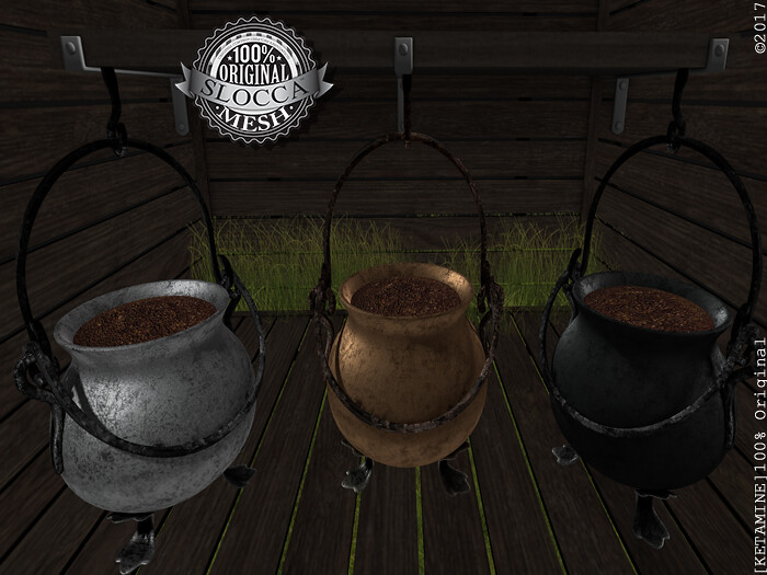 [Ketamine] Cauldron 3 Colors Hanging - SecondLifeHub.com