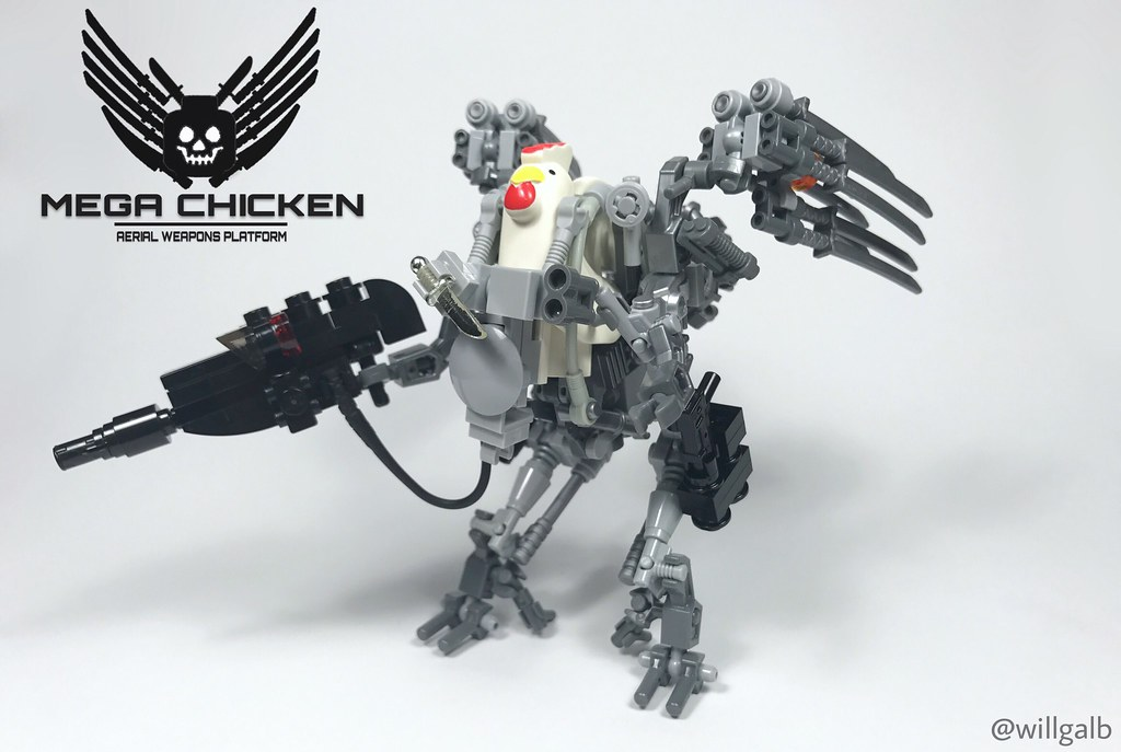 Our Hero Of The Skies: Mega Chicken (custom built Lego model)