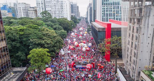 15 de março: Dia Nacional de Paralisação. Ato na avenida Paulista - Créditos: Ricardo Stuckert/CUT