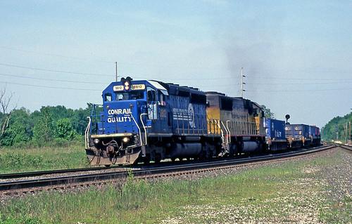 csx csxintermodaltrain conraillocomotives conrail greenwichohio csxgreenwichsubdivision