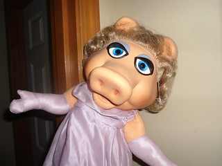 The very Lovely Miss Piggy welcomes us into her home