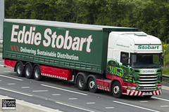 Scania R440 6x2 - PX12 NYP - Mary Lucy - Eddie Stobart - M1 J10 Luton - Steven Gray - IMG_0098