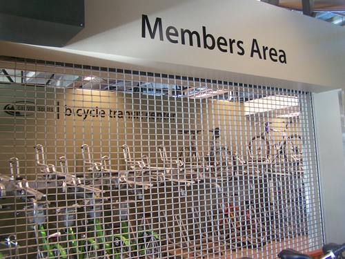 Member bicycle parking area,Salt Lake City Bicycle Transit Center