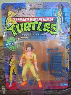 TEENAGE MUTANT NINJA TURTLES :: April O'Neil { v.2 on original '10-back' card } i (( 1990 ))
