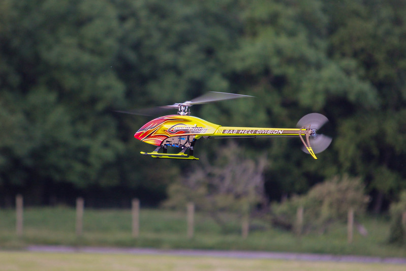 Dave flying his SAB Goblin 700