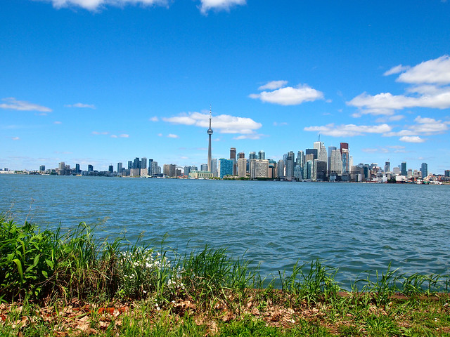 Toronto skyline from the Toronto Islands
