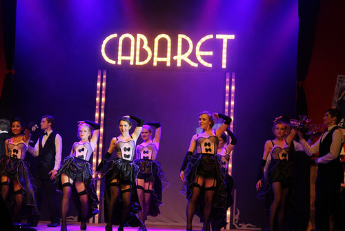 The girls of the Kit Kat Klub in George Watson's production of Cabaret. Photo © Fiona MacFarlane