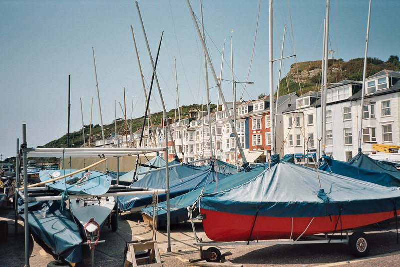 Boats and houses in Aberdovey
