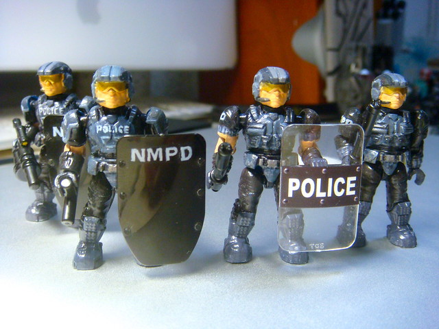 NMPD Police with riot shield! 9238443807_bee8b23784_z